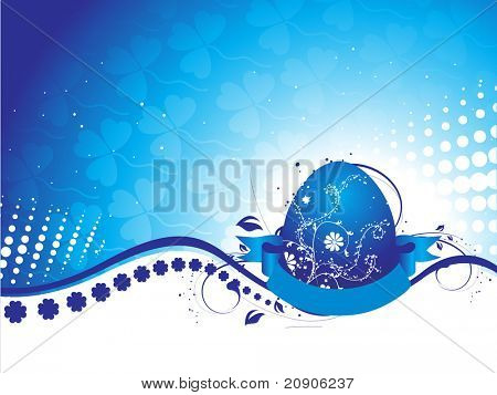 abstract blue easter egg background vector illustration