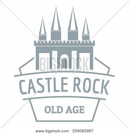 Castle rock logo. Simple illustration of castle rock vector logo for web