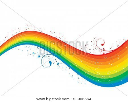 vector illustration of rainbow isolated on white