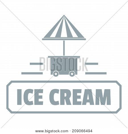 Ice cream stand logo. Simple illustration of ice cream stand vector logo for web