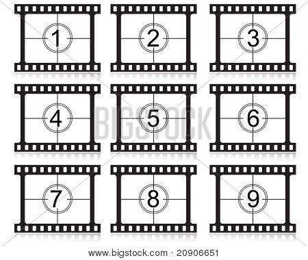 film countdown numbers vector illustration