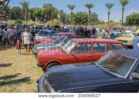 Vintage Oldtimer Cars Presented On Annual Car Show, Israel