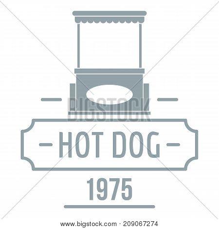Hot dog logo. Simple illustration of hot dog vector logo for web