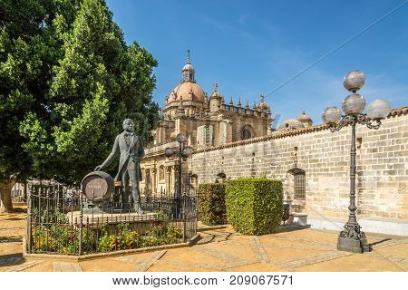 JEREZ DE LA FRONTERA,SPAIN - SEPTEMBER 30,2017 - In the atreets of Jerez de la Frontera. Jerez is known as the city of flamenco sherry horses and motorcycles.