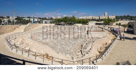 Large Panoramic View Of Model Of Jerusalem In The Second Temple Period