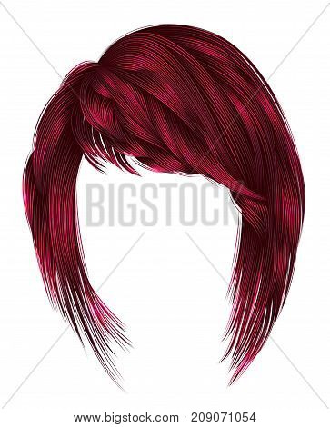 trendy woman highlignting hairs kare with fringe .