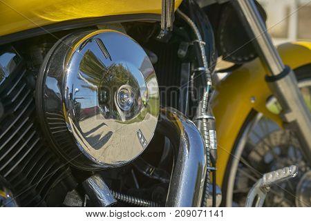 Engine Of A Custom Bike