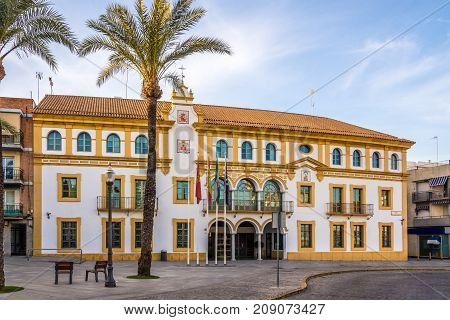 City hall at the place of Constitution in Dos Hermanas town near Sevilla in Spain