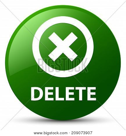 Delete Green Round Button