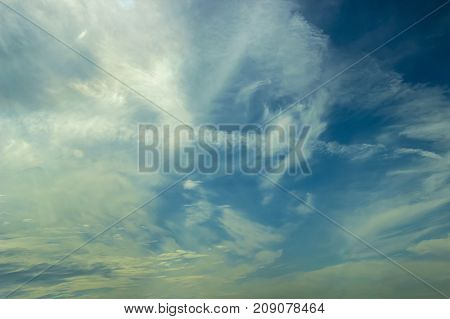 blue sky with cloud clear day background