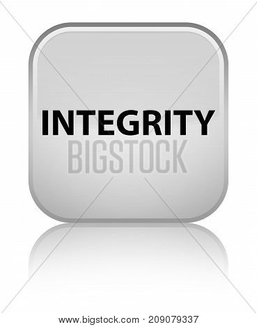 Integrity Special White Square Button