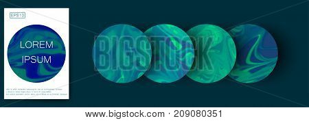 Marble texture covers set. Colorful artistic backgrounds. EPS10 Vector.