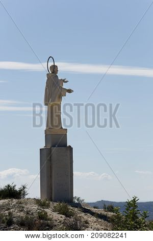 Sculpture Of San Pascual In Orito