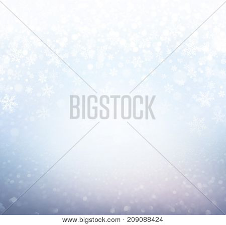 Festive Frosted Winter Background