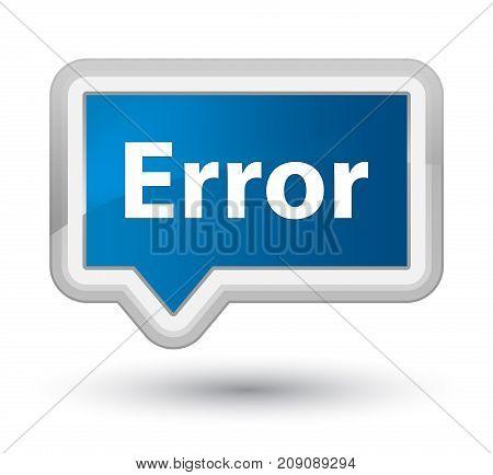 Error Prime Blue Banner Button