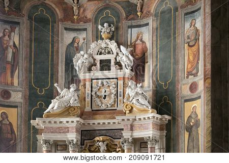 Montagnana, Italy - August 6, 2017: The Cathedral Of The Assumption Of The Blessed Virgin Mary 1431