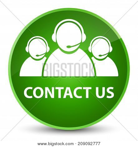 Contact Us (customer Care Team Icon) Elegant Green Round Button