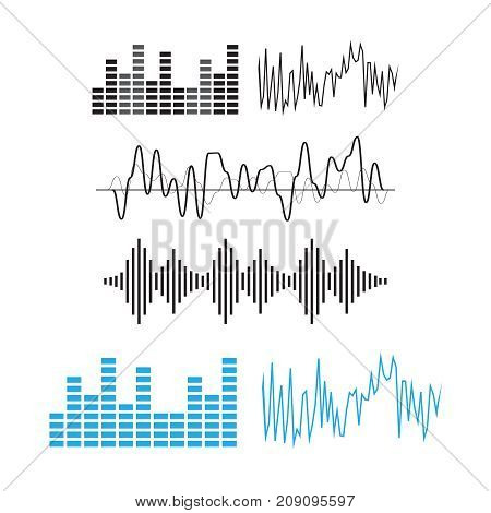 Wave Sound Pattern. Sound Waves Concept. Sound Waves Vector