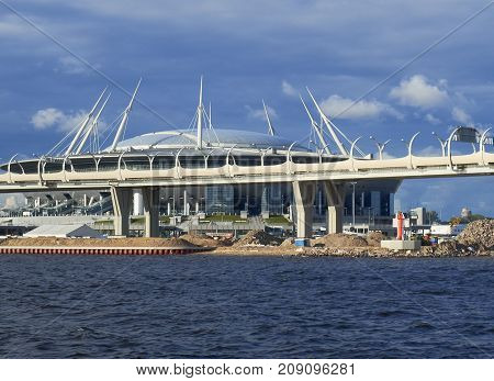 ST PETERSBURG RUSSIA - July 20 2017: The stadium of the football club Zenit