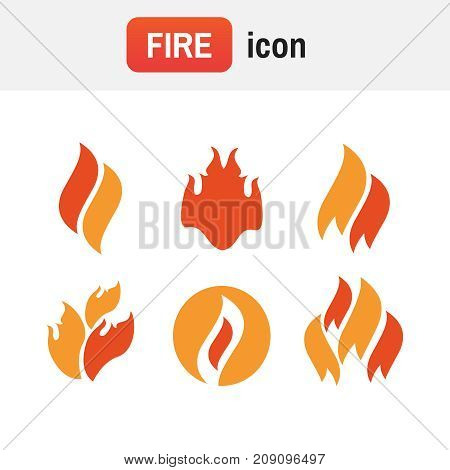 Fire Icon Emergency. Fire Icons, Fire Flame Vector Illustration Set