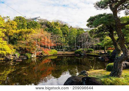 Koko-en Autumn Garden In Himeji