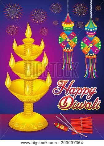 abstract artistic detailed diwali background vector illustration