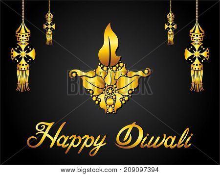abstract artistic creative golden diwali background vector illustration
