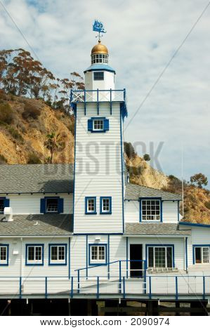 Tower of the Yacht club Avalon Catalina Island. poster