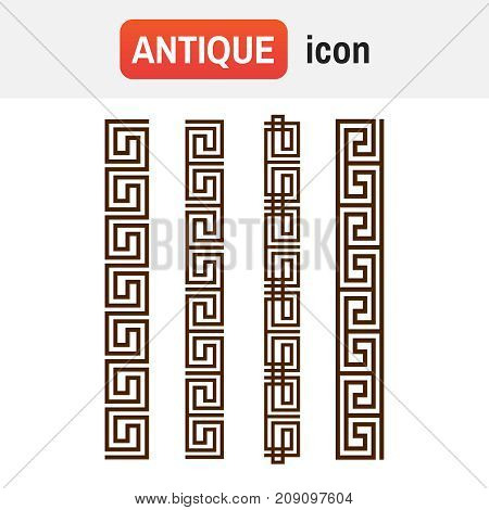 Ornament Greek Vector. Vector Greek Ornament. Greek Ornament Flat Style