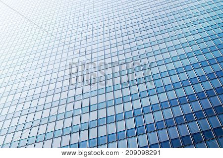 Business office and corporate background. Shiny, new and modern glass building. Window pattern.