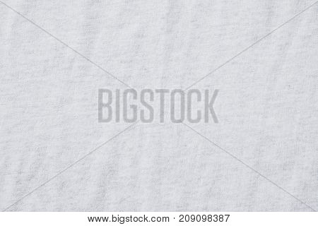 Wrinkled white cotton polyester fabric texture background fashion design concept
