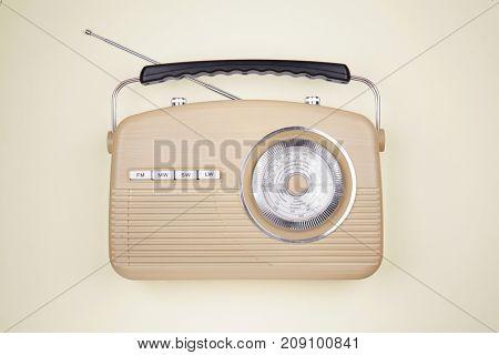 Radio receiver on light background