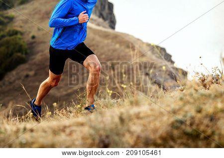 mountain marathon running uphill athlete men runner