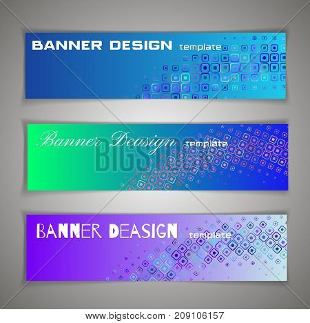 Colorful halfton abstract corporate business banner template infographic horizontal advertising business banner layout template flat design set clean abstract cover header background website. Blue green azure