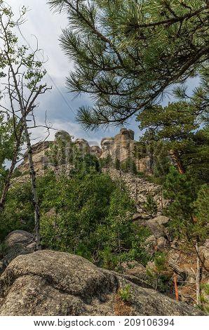 Mount Rushmore National Memorial.  Black Hills South Dakota