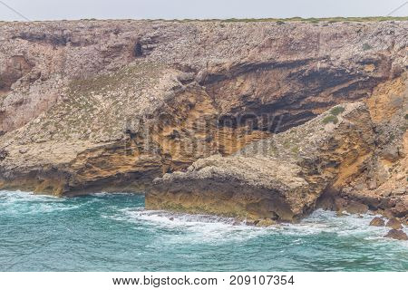 Cliffs And Ocean In Cabo De Sao Vicente