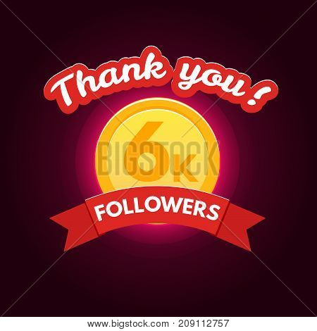 Thank you followers. Design template for friends and followers Vector illustration