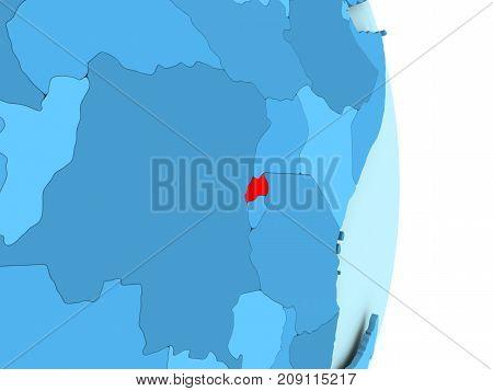 Map Of Rwanda In Red