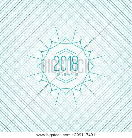 Happy new year 2018 theme. for greeting card, flyer, invitation, poster, brochure, banner, calendar Christmas Meeting events Vector