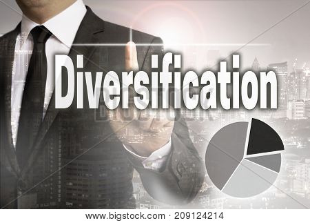 Diversification is shown by businessman concept picture