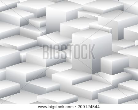 Isometric vector seamless pattern in the style of cubism. Stylized town house at dawn