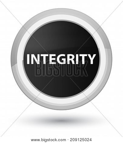 Integrity Prime Black Round Button