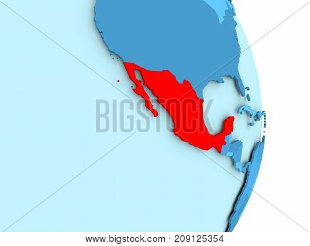 Map Of Mexico In Red