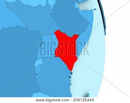 Map Of Kenya In Red