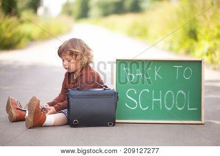 Little Girl Ready Back To School, Little Genius
