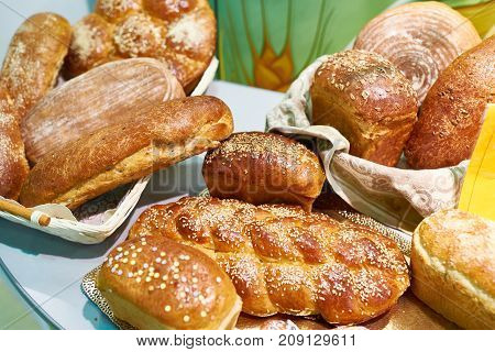 Freshly Baked Bread With Sesame Seeds