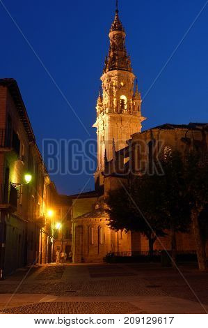 Night At The Cathedral Of Santo Domingo De La Calzada, St.james Way, La Rioja, Spain