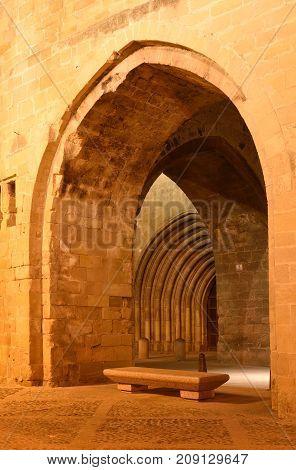 Portico Of The Cathedral Of Santo Domingo De La Calzada, St.james Way, La Rioja, Spain