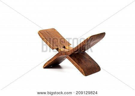 Ancient Wooden Pillow Made From Old Wood For