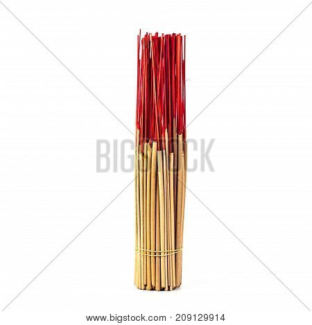 red incense stick traditional in Thailand culture